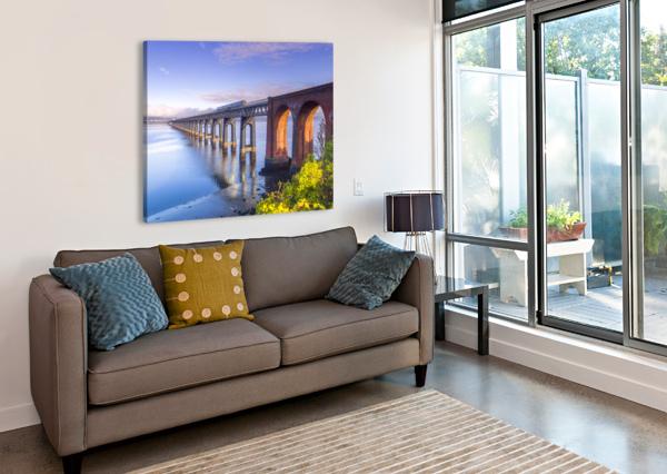 TAY RAIL BRIDGE, DUNDEE, SCOTLAND ASSAF FRANK  Canvas Print