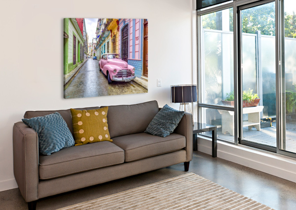 VINTAGE CAR ON STREET OF HAVANA, CUBA ASSAF FRANK  Canvas Print