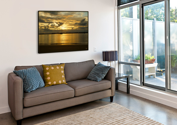 CLARENCE RIVER SUNSET STEPHEN JAMES  Canvas Print