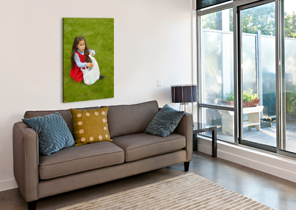 EASTER EGG HUNT GIRL 360 STUDIOS  Canvas Print