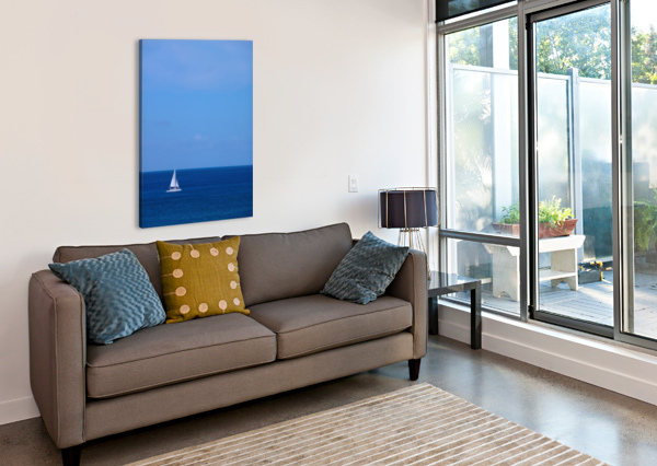 BLUE DAY - GALLERY ARTWORK OF THE YEAR 2017 - MINIMALISM 360 STUDIOS  Canvas Print