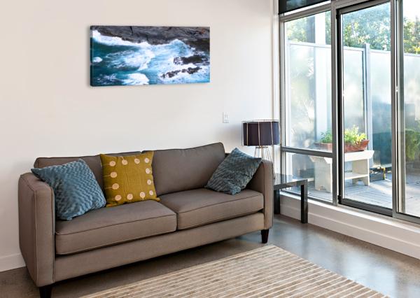 SWIRLING BLUE SEAS 360 STUDIOS  Canvas Print