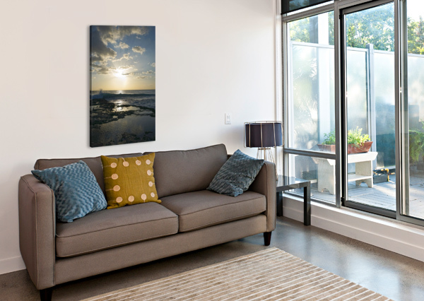 SOFTLY CAME THE NIGHT OVER THE PACIFIC 360 STUDIOS  Canvas Print