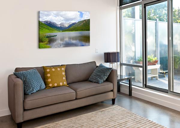 ROCKY MOUNTAIN REFLECTIONS 360 STUDIOS  Canvas Print