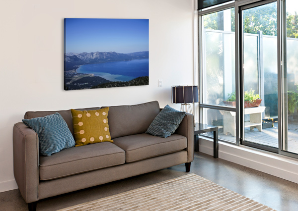 LAKE TAHOE VIEW - TAHOE CALIFORNIA USA 360 STUDIOS  Canvas Print