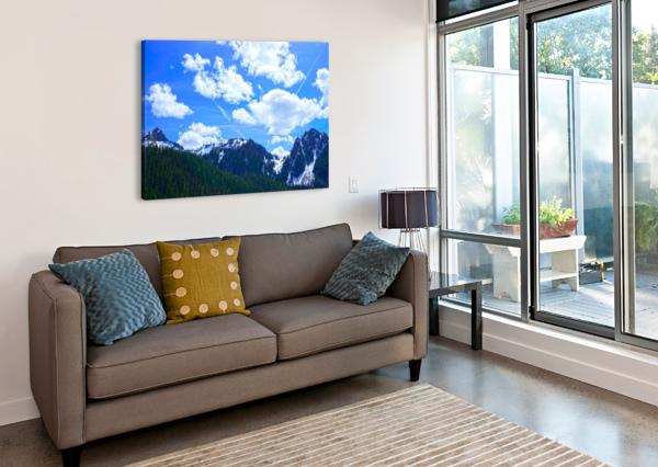 IN THE CASCADE MOUNTAINS 360 STUDIOS  Canvas Print