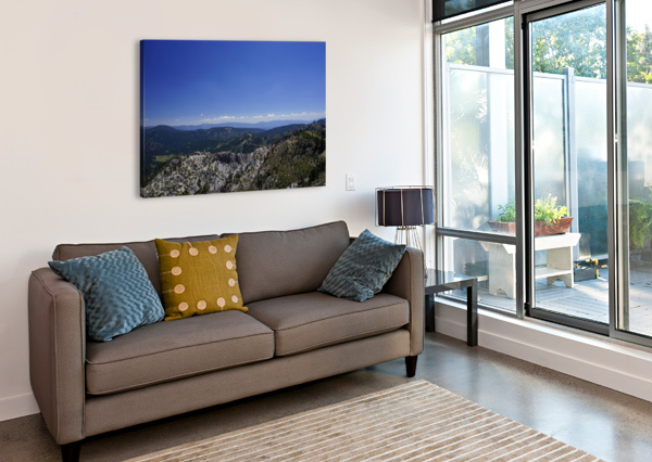 VIEW FROM THE TOP LAKE TAHOE CALIFORNIA 1NORTH  Canvas Print