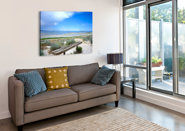 THE GREAT SALT LAKE 1 OF 7 1NORTH  Canvas Print