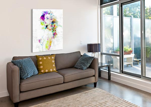 HEY BABY FANNY ARTISTE PEINTRE  Canvas Print