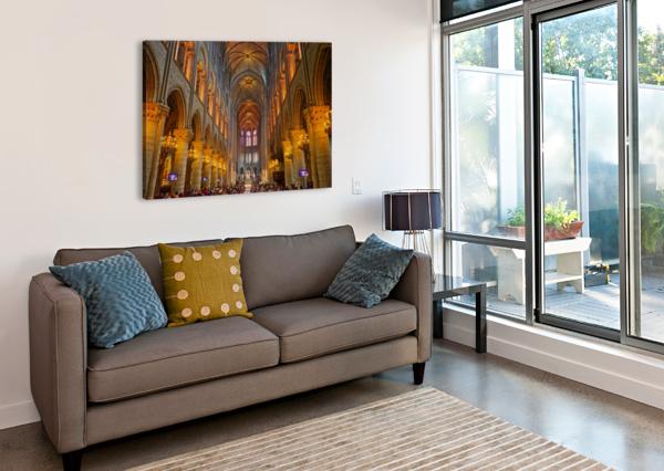SAINT CROIX CATHEDRAL FRANCE 360 STUDIOS  Canvas Print