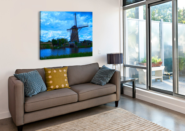 WINDMILL AFTER THE STORM 1NORTH  Canvas Print