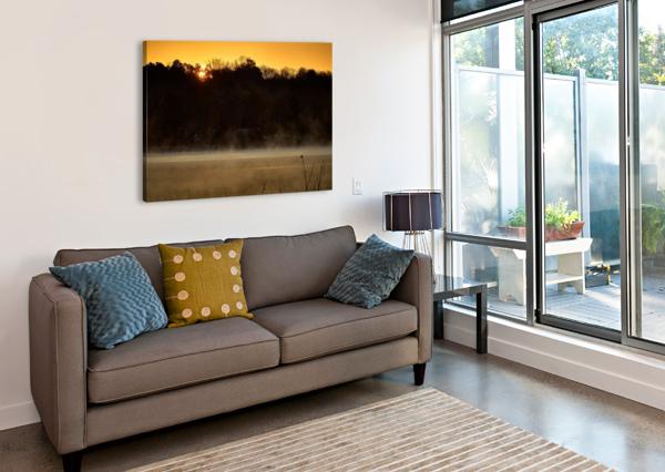 SUNRISE AT LANGLEY POND PARK   AIKEN SC 7R301610 12 19 20 @THEPHOTOURIST  Canvas Print