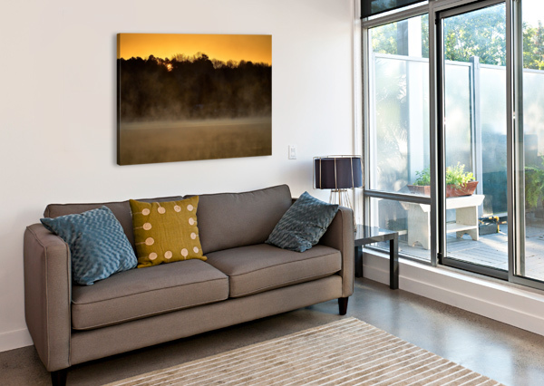 SUNRISE AT LANGLEY POND PARK   AIKEN SC 7R301594 12 19 20 @THEPHOTOURIST  Canvas Print