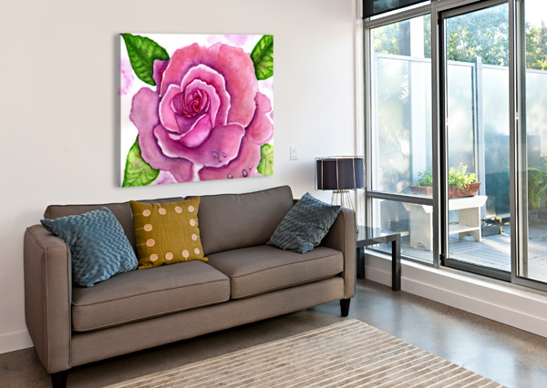 MAGNIFICENT ROSE ANET  Canvas Print