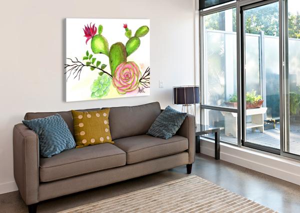 FLOWERING CACTUS  ANET  Canvas Print