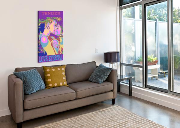 THE KISS ROYSEBERG  Canvas Print