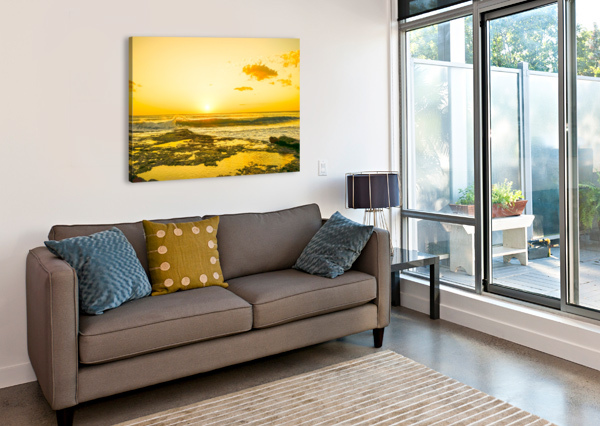GOLDEN MOMENT - SUNSET HAWAIIAN ISLANDS 1NORTH  Canvas Print