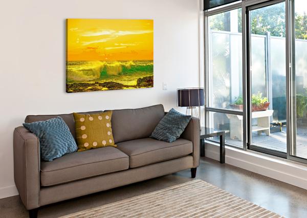 AT THE SEA SHORE - SUNSET HAWAIIAN ISLANDS 1NORTH  Canvas Print