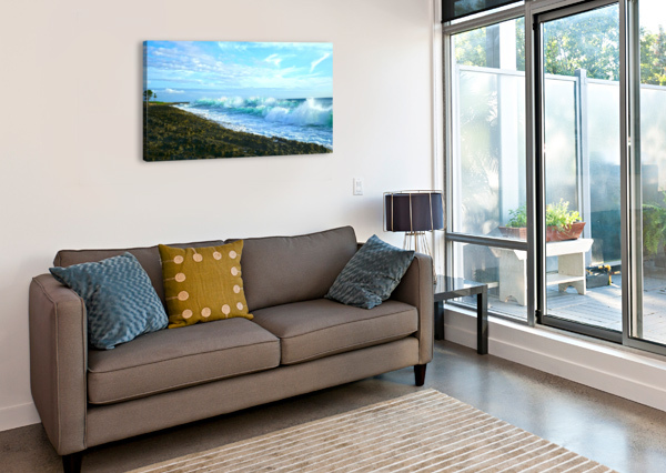 BLUE DAY PANORAMA 1NORTH  Canvas Print