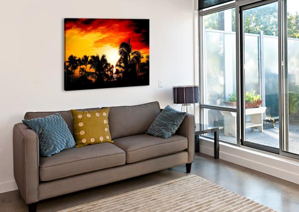 FIRE IN THE HEAVENS - SUNSET HAWAIIAN ISLANDS 1NORTH  Canvas Print