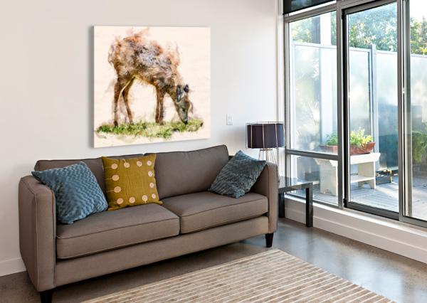 WHITE TAIL DEER BOB ORSILLO  Canvas Print