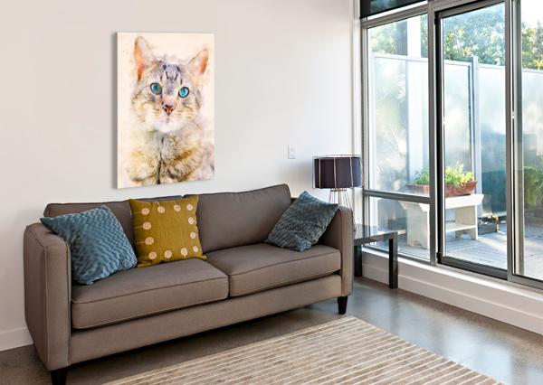 DRAGON LI HAU CAT BOB ORSILLO  Canvas Print