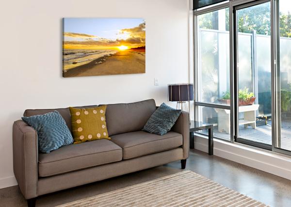 THE SUMMER SUN SETS IN THE CAROLINAS 360 STUDIOS  Canvas Print