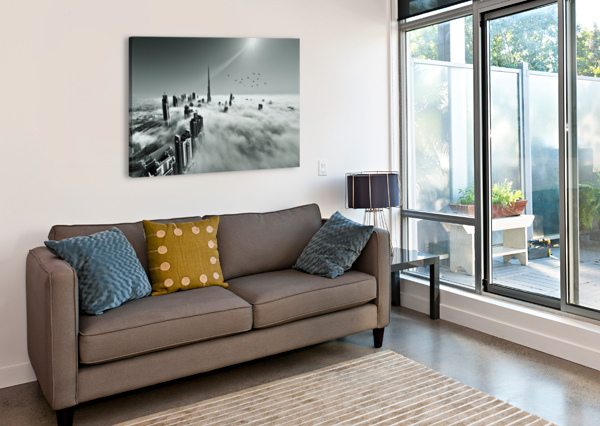 UP UP AND ABOVE 1X  Canvas Print