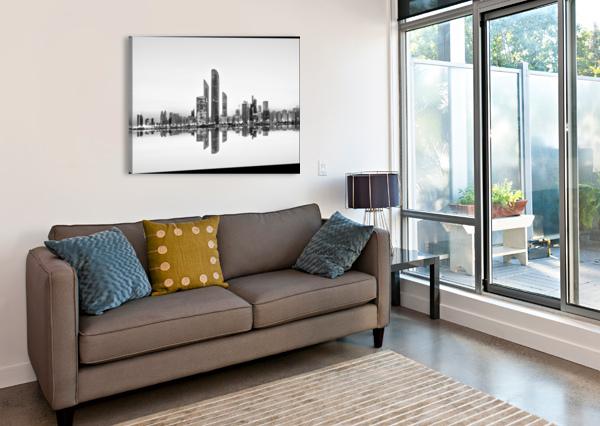 ABU DHABI URBAN REFLECTION 1X  Canvas Print