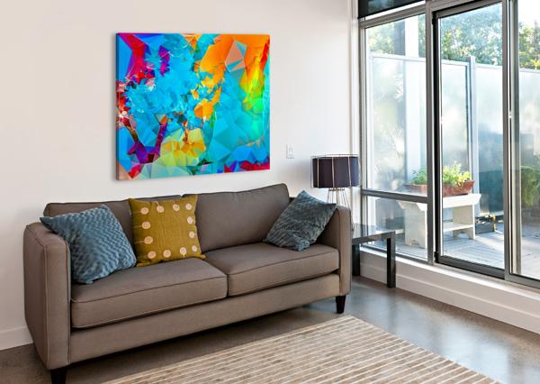 BERRY LUSH BLOOMS SOUL SPARKLES   Canvas Print