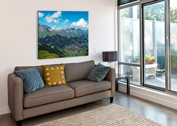 THE BERNESE ALPS SWITZERLAND 1NORTH  Canvas Print