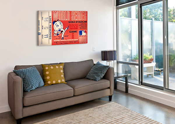 1969 NEW YORK METS GAME 5 TICKET ART ROW ONE BRAND  Canvas Print
