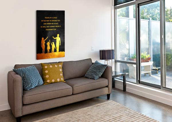 PROVERBS 22:6 BIBLE VERSE WALL ART ABCONCEPTS  Canvas Print