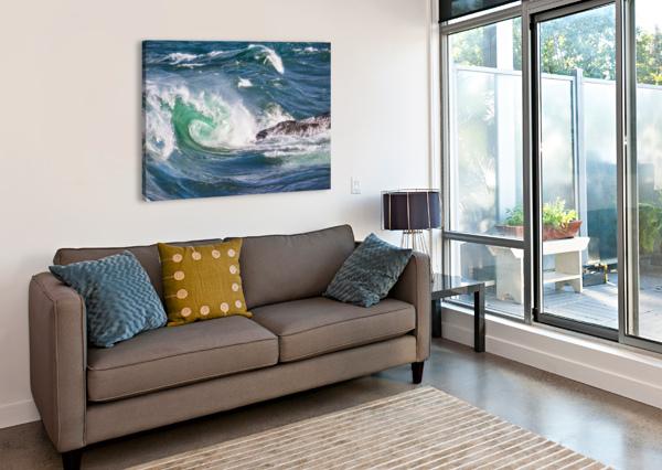 WAVE CURL AP 2663 ARTISTIC PHOTOGRAPHY  Canvas Print