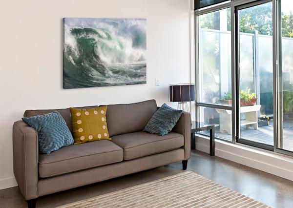WAVE CURL AP 2672 ARTISTIC PHOTOGRAPHY  Canvas Print
