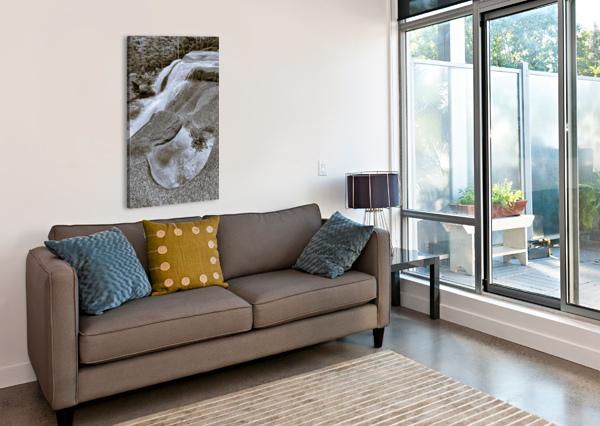 WATERFALL AP 2212 B&W ARTISTIC PHOTOGRAPHY  Canvas Print