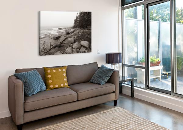 BOULDERS AP 2256 B&W ARTISTIC PHOTOGRAPHY  Canvas Print