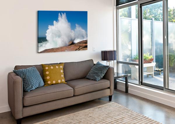 CRASHING WAVE AP 2320 ARTISTIC PHOTOGRAPHY  Canvas Print