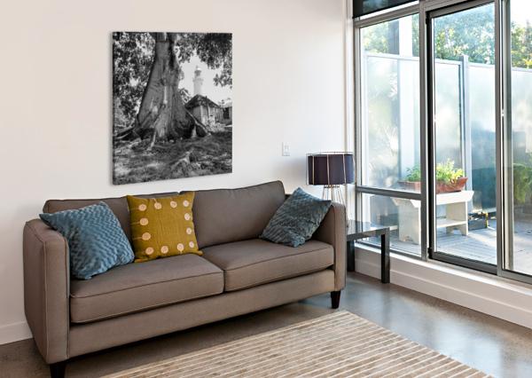 NEGRIL LIGHTHOUSE AP 1516 B&W ARTISTIC PHOTOGRAPHY  Canvas Print