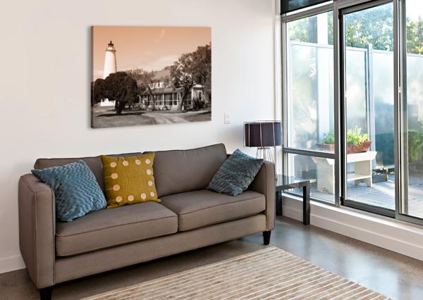 OCRACOKE LIGHT AP 1743 B&W ARTISTIC PHOTOGRAPHY  Canvas Print