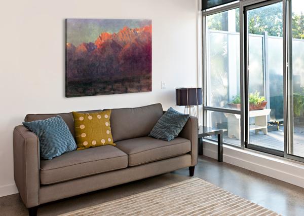 SUNRISE IN THE SIERRAS BY BIERSTADT BIERSTADT  Canvas Print