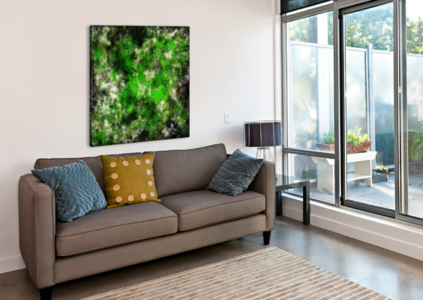 GREEN NOISE KEITH MILLS  Canvas Print
