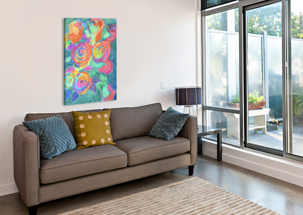 COLORFUL FLOWERS PALLAVI SHARMA  Canvas Print