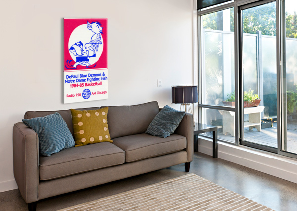 1984 DEPAUL NOTRE DAME BASKETBALL WGN POSTER ROW ONE BRAND  Canvas Print