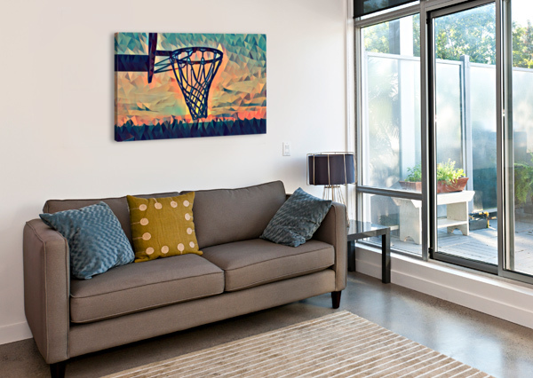 BASKETBALL HOOP SUNSET PIERCE ANDERSON  Canvas Print