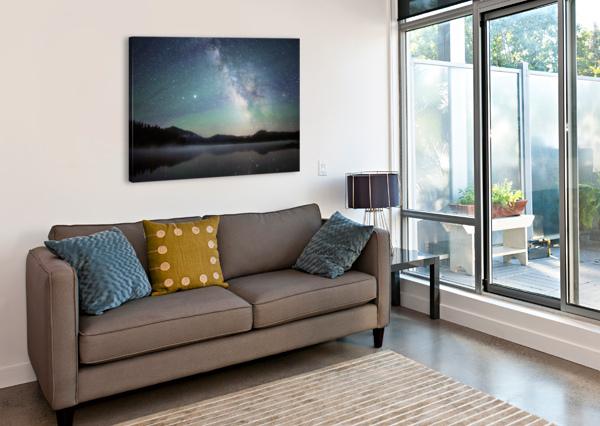 STOCKADE LAKE AND THE MILKY WAY COREY DOUGLAS  Canvas Print