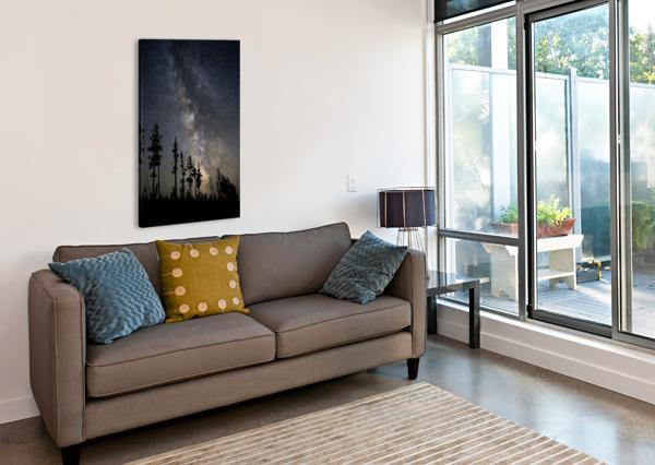 YELLOWSTONE MILKY WAY COREY DOUGLAS  Canvas Print
