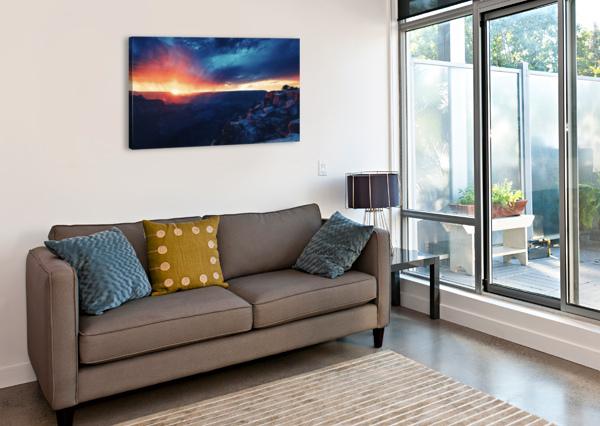 THE GRANDEST SUNSET COREY DOUGLAS  Canvas Print