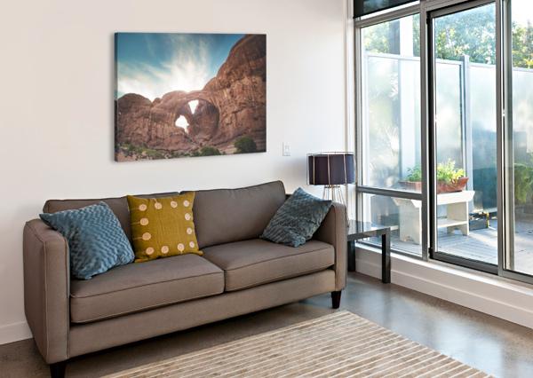 THE DOUBLE ARCH COREY DOUGLAS  Canvas Print