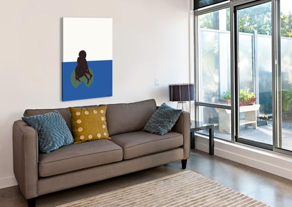LILY POND BY DBIANCA  Canvas Print